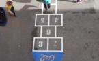 Jeux au sol dans la cour