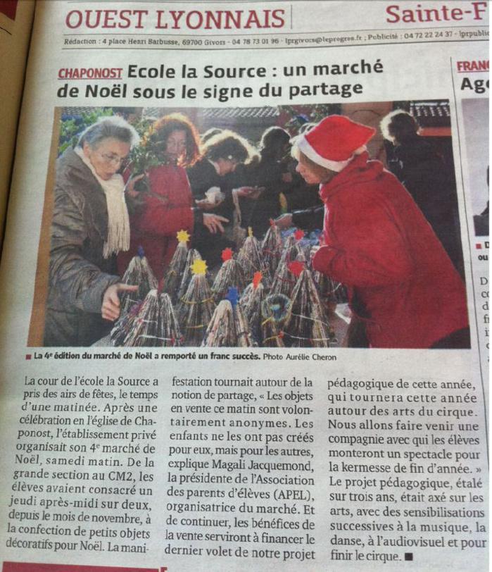 Le Progres, 18 décembre 2012